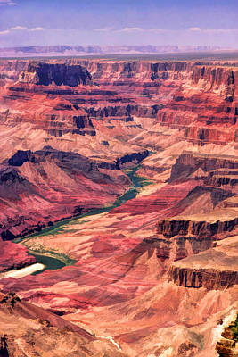 Canyon Painting - Grand Canyon Colorado Canyon by Christopher Arndt