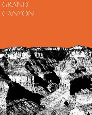 Grand Canyon Digital Art - Grand Canyon - Coral by DB Artist