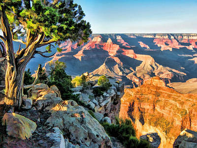 Grand Canyon Painting - Grand Canyon Ledge by Christopher Arndt