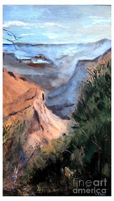 Grand Canyon Drawing - Grand Canyon Morning by Joseph Wetzel