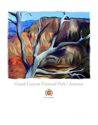 Grand Canyon Mixed Media - Grand Canyon National Park Az by Bob Salo