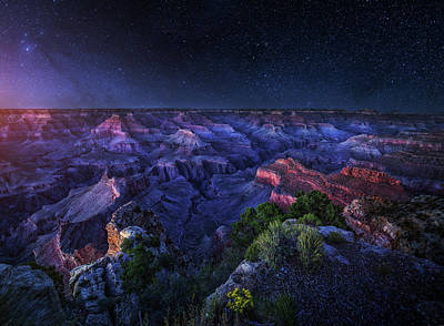 Grand Canyon Night Print by Juan Pablo De