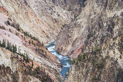 Grand View Of Nature Photograph - Grand Canyon Of Yellowstone Wyoming by Bill Coster