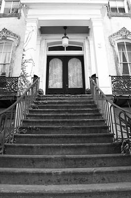 Grand Entrance In Black And White Print by Maria Suhr