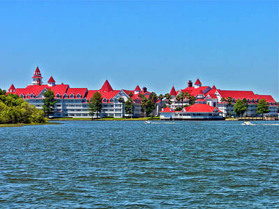 Grand Floridian Resort And Spa Print by Thomas Woolworth