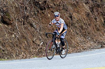 Grand Fondo Bike Ride Print by Susan Leggett