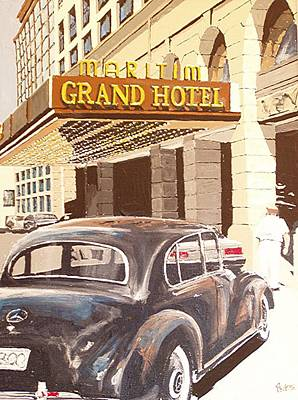 Berlin Germany Painting - Grand Hotel East Berlin Germany by Paul Guyer