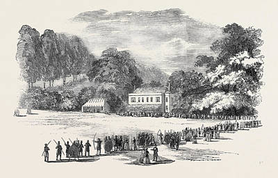 Grand Meeting Of The Devon And Cornwall Archery Clubs Print by English School