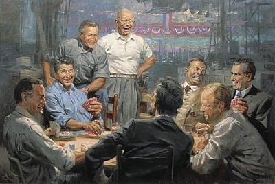 George Bush Digital Art - Grand Ol Gang by Andy Thomas