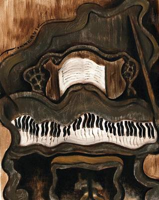 Pianist Painting - Tommervik Abstract Grand Piano Art Print by Tommervik