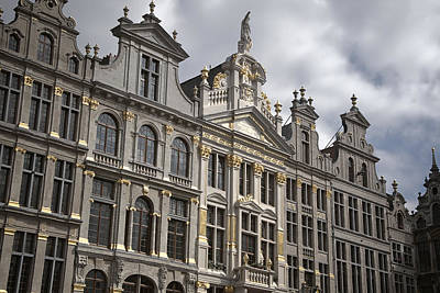Bruxelles Photograph - Grand Place Detail by Joan Carroll