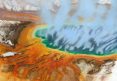 Yellowstone Mixed Media - Grand Prismatic Spring by James Bangerter