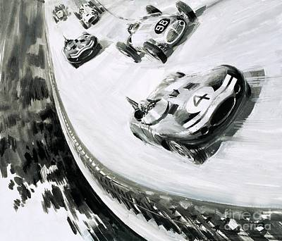 Grand Prix Print by English School