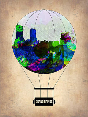 Capital Cities Painting - Grand Rapids Air Balloon by Naxart Studio