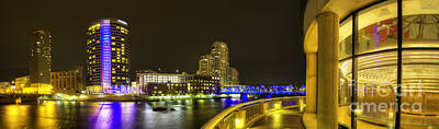 Grand Rapids From Ford Museum Print by Twenty Two North Photography