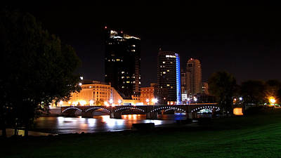 Grand Rapids Michigan Charm Print by Debra  Miller