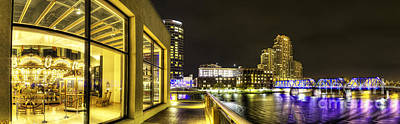 Grand Rapids Panorama Print by Twenty Two North Photography