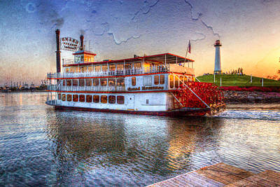 Grand Romance Riverboat Print by Heidi Smith