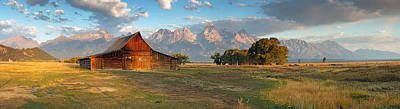 Farms-n-barns Photograph - Grand Teton Panorama by Nicholas Blackwell