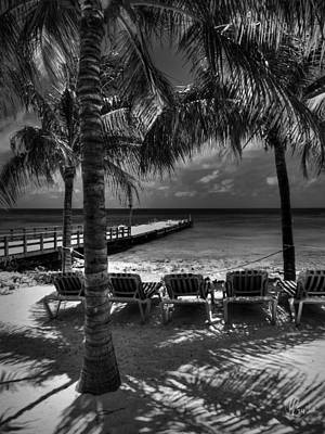 Grand Turk Vacation 002 Bw Print by Lance Vaughn