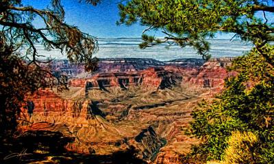 Grand Canyon Digital Art - Grand View by Dale Jackson