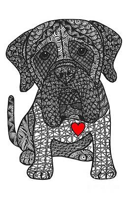 Puppy Mixed Media - Grandeur - Mastiff by Dianne Ferrer
