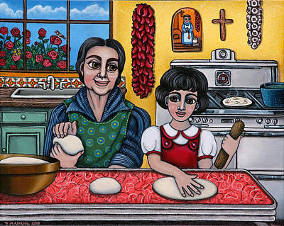 Tortillas Painting - Grandma Kate by Victoria De Almeida