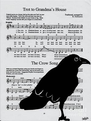 Grandmas Crow Song Print by Saskia Dinh