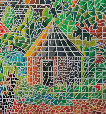 Africa Painting - Grandma's House by Anthony Mwangi