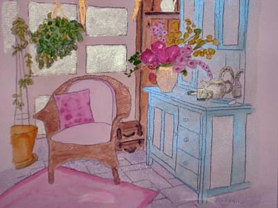 Interior Scene Painting - Grandma's Sitting Room by Eileen Tascioglu