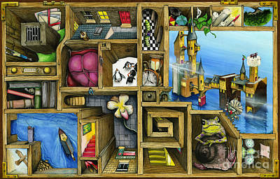 Mysterious Digital Art - Grandma's Treasure by Colin Thompson