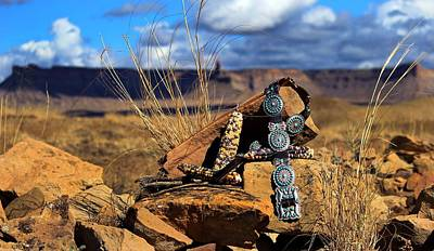 Concho Belt Photograph - Grandmother's Belt by Chelsea Begay