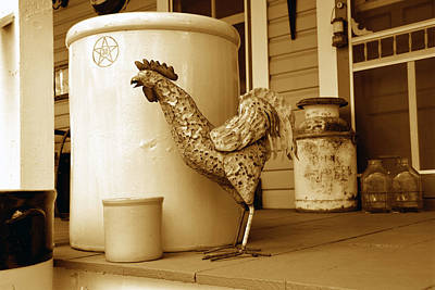 Old Milk Jugs Photograph - Grandmothers Porch by David Lee Thompson