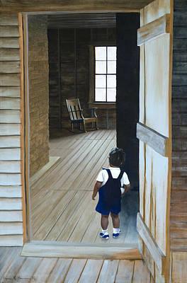 Apprehension Painting - Grandpa's Chair by Lynn Hansen