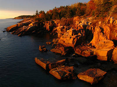 Granite Coast Landscape Acadia Np Print by Juergen Roth