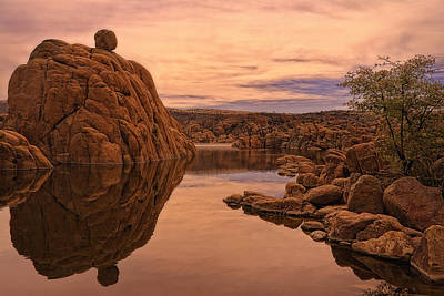 Watson Lake Photograph - Granite Dells by Priscilla Burgers