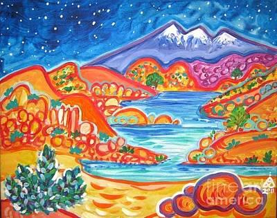 Watson Lake Painting - Granite Dells Starry Night by Rachel Houseman