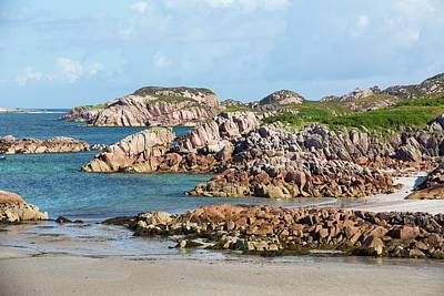 Of Lichen Photograph - Granite Outcrops At Fionnphort by Ashley Cooper