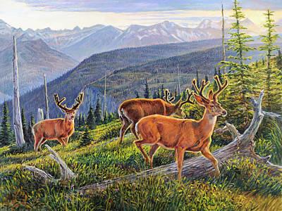 Pine Tree Painting - Granite Park Bucks by Steve Spencer