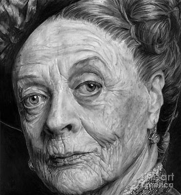 Grannies 12#05. Maggie Smith Print by Arual Jay