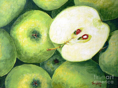 Fruit Stand Painting - Grannies by Terry Taylor