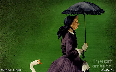Granny Gets A Goose... Print by Will Bullas