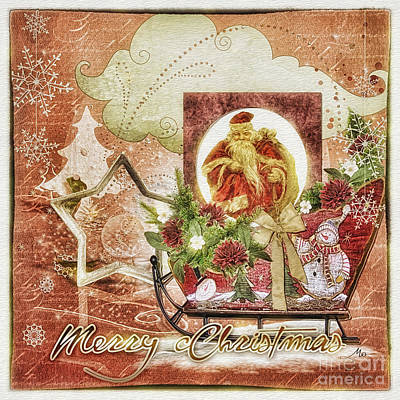 Granny's Christmas Print by Mo T