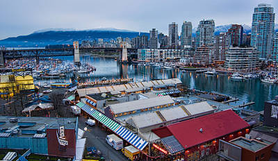 Granville Island Public Market Print by James Wheeler
