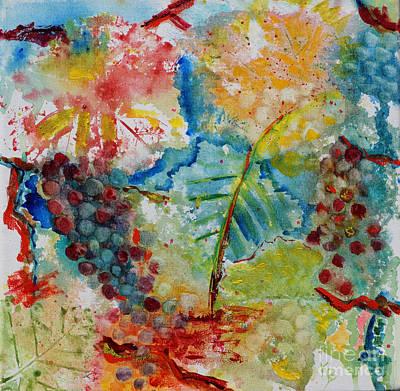 Grape Abstraction Print by Karen Fleschler