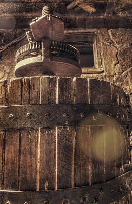 Wine Cellar Photograph - Grape Press At Wiederkehr by Jason Politte