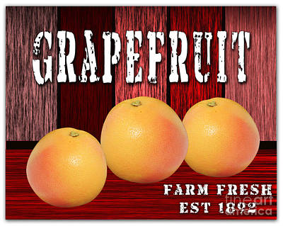 Grapefruit Mixed Media - Grapefruit Farm by Marvin Blaine