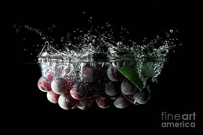 Grapes Print by Andreas Berheide