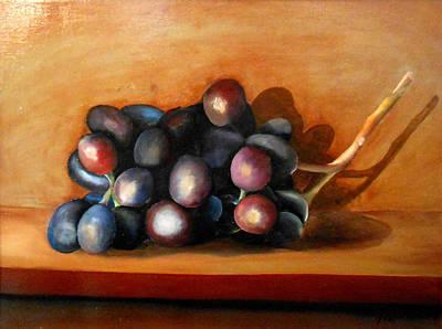 California Painting - Grapes by Robert Foss