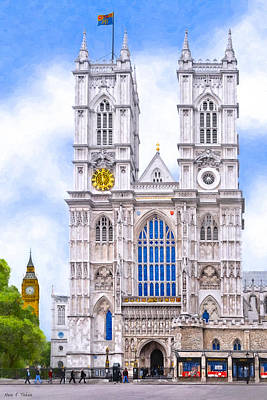 England Photograph - Graphic Westminster Abbey by Mark E Tisdale